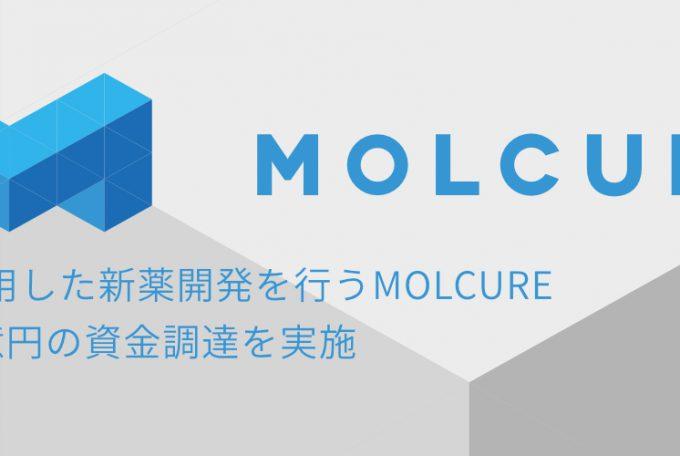 AIを活用した新薬開発を行うMOLCURE、総額8億円の資金調達を実施 , August 18